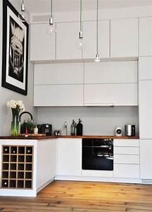 Arbeitsplatte Holz Küche : holz arbeitsplatten k che moderne grau lackiertem schwarzen akzenten k che pinterest ~ Sanjose-hotels-ca.com Haus und Dekorationen
