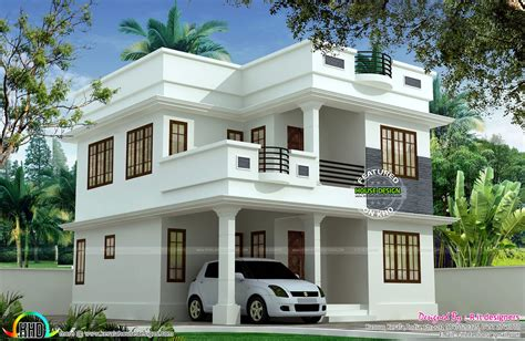 modern house front view double floor zion star