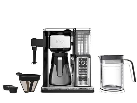Product description the next generation ninja coffee bar is a single serve and thermal carafe coffee system—complete with a built in frother that transforms hot or cold milk into silky smooth froth in seconds and a host of delicious coffee recipes you can create and enjoy, all from the comfort of home. Ninja Coffee Bar Auto-iQ Brewer with Glass Carafe - Walmart.com - Walmart.com