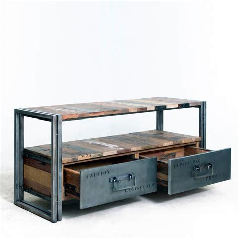 livraison repas bureau meuble tv bois et métal numéroté