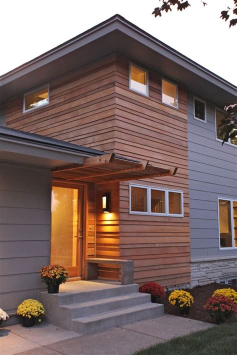 Ship Plank Siding by Simple Exterior In 2019 Split Level Exterior