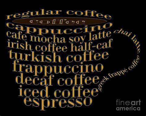 coffee shoppe coffee names black 1 typography digital art by andee design