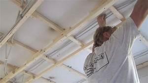 Decke Abhängen System : decke abh ngen holzkonstruktion herstellen anleitung tipps vom maurer trockenbau ~ Orissabook.com Haus und Dekorationen