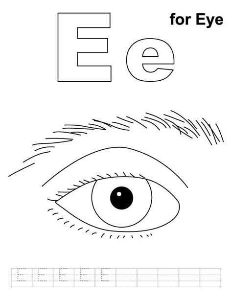 eye coloring page  handwriting practice big
