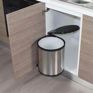 Poubelle De Plan De Travail : poubelle de cuisine ronde encastrable alysta 14 litres ~ Dailycaller-alerts.com Idées de Décoration