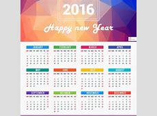 New Year Calendar 2016 Designs Holidays
