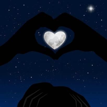 Heart Hand Moon Reflection Hands Star Emoji