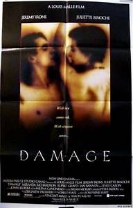 Damage (1992) - (Jeremy Irons) one-sheet, F, EX, $15
