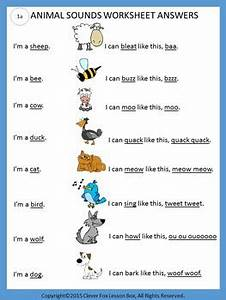 Animal Sounds - Onomatopoeia Printables by Clever Fox ...