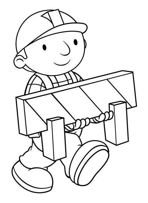 Builder Free Print by Bob The Builder Coloring Pages Getcoloringpages
