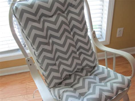 Gray And White Rocking Chair Cushions by Tufted Rocker Rocking Chair Cushion Set In Gray And By