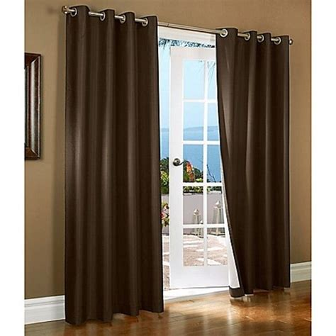window drapes brown blackout curtains thermal lined solid window grommet