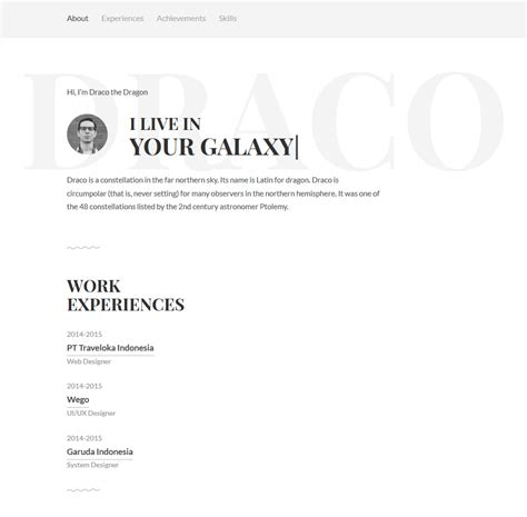 Personal Resume Website Template Free by Free Personal Resume Website Template Freebies Fribly
