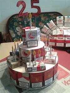 Kreative Geschenke Für Männer : alte schachtel 25 geburtstag torte aus schachteln ideen f r geschenke pinterest ~ Orissabook.com Haus und Dekorationen