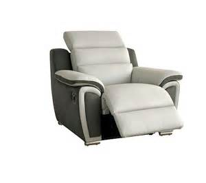 Fauteuil Cuir Relax Electrique by Fauteuil Relax 233 Lectrique Wow Cuir Micro Gris Clair