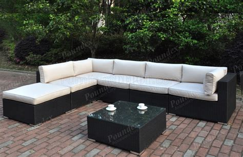 427 outdoor patio 7pc sectional sofa set by poundex w options