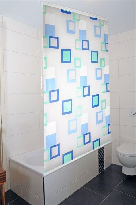 Duschrollo Duschvorhang Badewannenvorhang Halbkassette