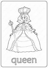 Queen Coloring Pages Printable Pdf Books Coloringoo Childrens Drawing sketch template