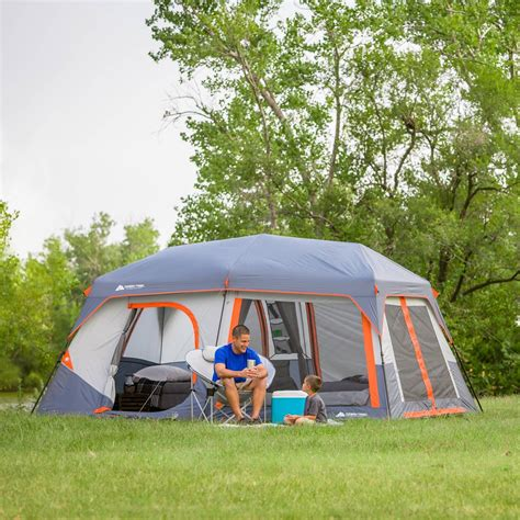 ozark trail canopy ozark trail 14 x 10 x 78 quot instant cabin tent with light