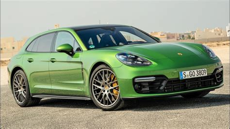2019 Green Porsche Panamera Gts Sport Turismo