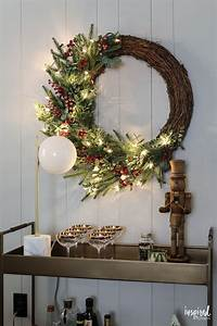Red, And, Rustic, Christmas, Mantel