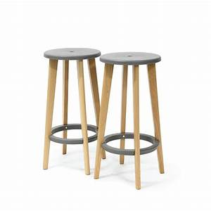 Tabouret De Bar Exterieur : tabouret bois design gris harry 39 s par drawer ~ Dailycaller-alerts.com Idées de Décoration