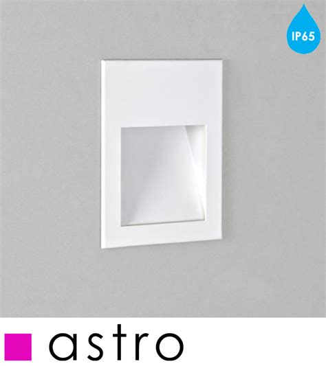 kitchen fluorescent lights astro borgo 54 led ip65 2700k recessed wall light white 1735