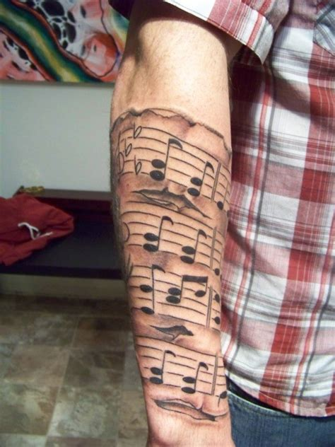 this is the style of sheet music i want tattoos