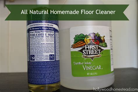 natural homemade floor cleaner hollywood homestead