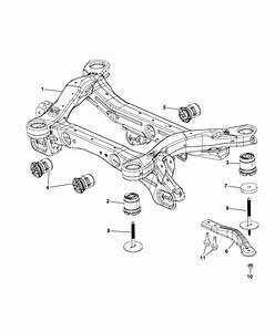 2014 Jeep Cherokee Cradle  Rear Suspension