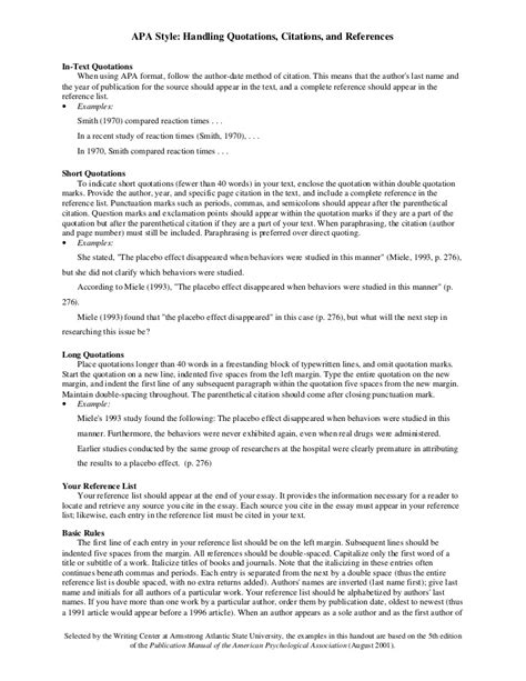Format Your Essay Apa Style by Apa Style Citation Format