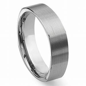 tungsten carbide square wedding band ring With square mens wedding rings