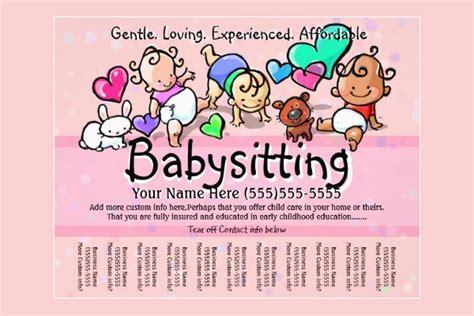 babysitting advert entown posters