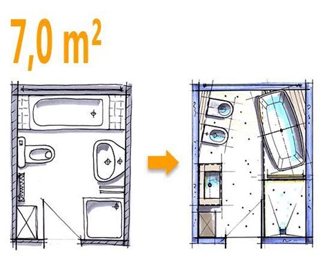 Kleine Badezimmer Beispiele Grundriss by Badplanung Beispiel 7 Qm Freistehend Badewanne Mit Wc