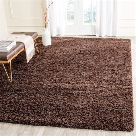 Brown Shag Area Rug by Safavieh Laguna Shag Brown 8 Ft X 10 Ft Area Rug Sgl303f