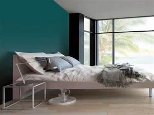 couleur gris urbain sur un mur de chambre parentale With couleur pour chambre parentale