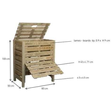 compost de cuisine bac compost en bois 400 litres jardipolys