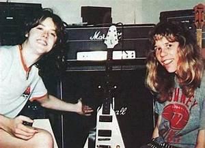 Lars Ulrich and James Hetfield of Metallica, 1981. : pics