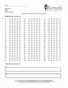 60 Question Test Answer Sheet  U00b7 Remark Software