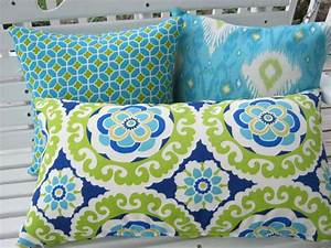 Turquoise Outdoor Pillows Chair Cushions : Great Home