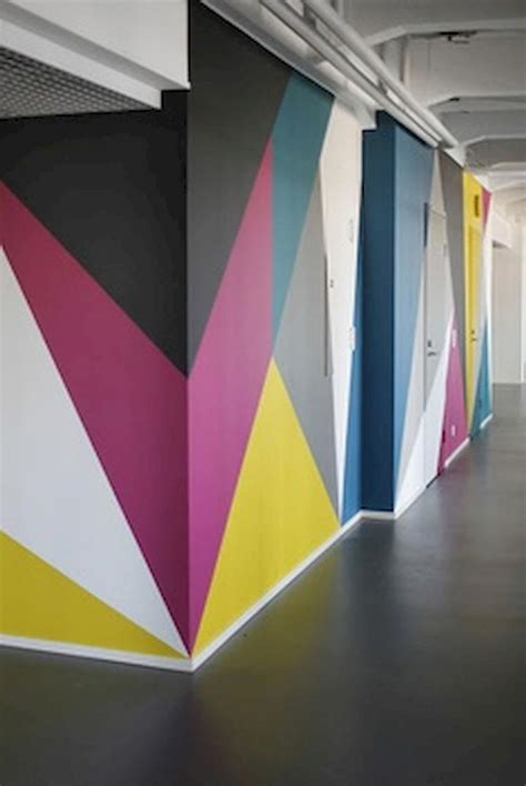 diy painted ombre wall  apartment decor ideas