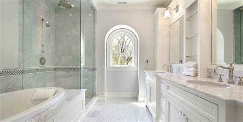 white accent cabinets with doors how to design a luxurious master bathroom