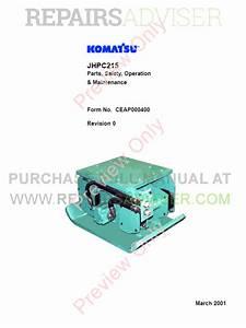 Komatsu Jhpc215 Parts  Safety  Operation And Maintenance