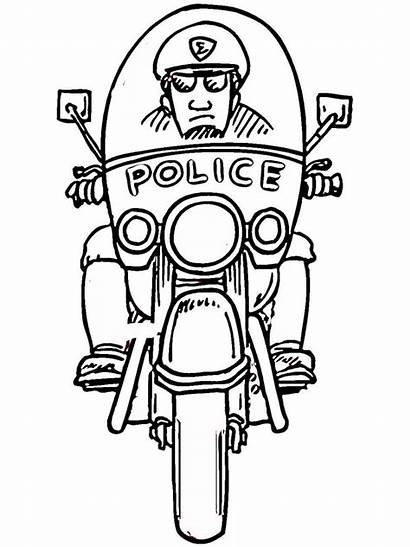 Coloring Police Pages Officer Boys Printable Recommended