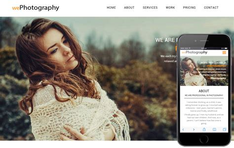 We Photography A Photographer Portfolio Flat Bootstrap