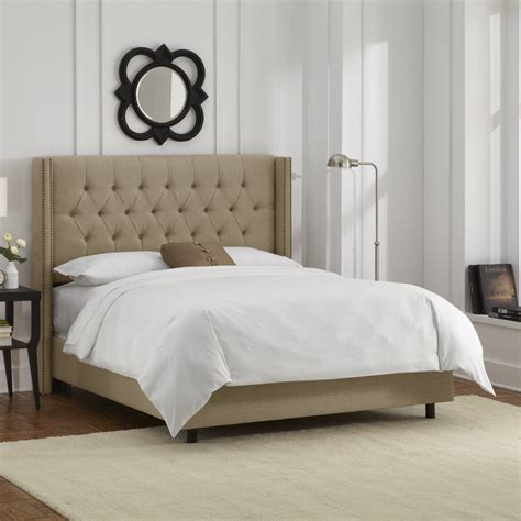 tufted bed skyline furniture nail button tufted wingback upholstered