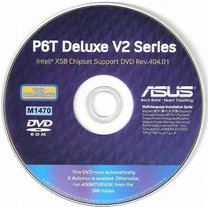 Asus P6t Deluxe V2 Motherboard Drivers Installation Disk