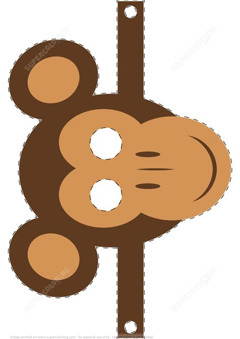 monkey mask template  printable papercraft templates