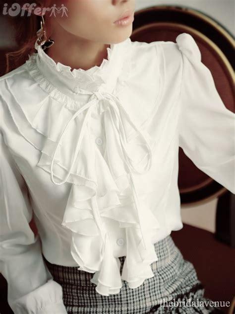 ruffled white blouse white ruffled blouse silk pintuck blouse