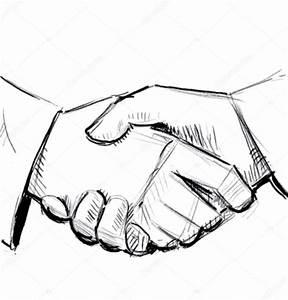 Hand shake sketch illustration — Stock Vector © Chuhail ...